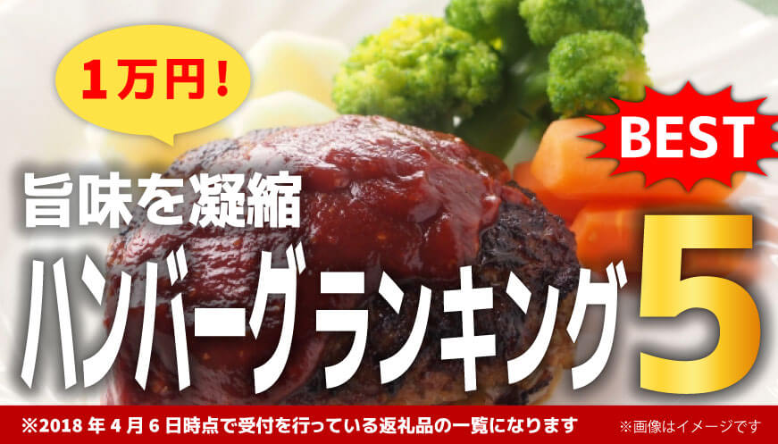 【人気のハンバーグ】1万円ランキング5!