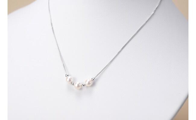 【5位】真珠品評会入賞常連のオーハタパールが作る海の宝石 アコヤ真珠プチネックレス
